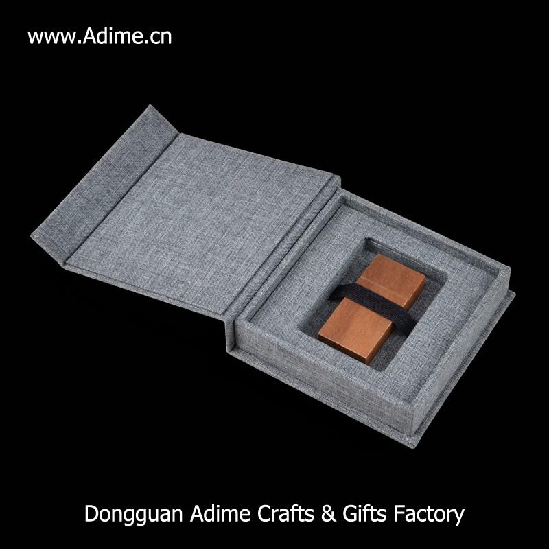 wedding linen cloth USB flash drive packaging box