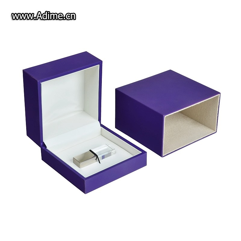 Soft Touch Paper USB Stick Packaging Gift Box for Wedding
