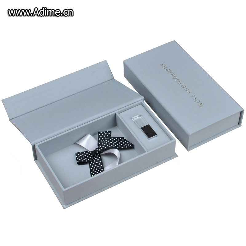 crystal glass USB stick photo packaging box