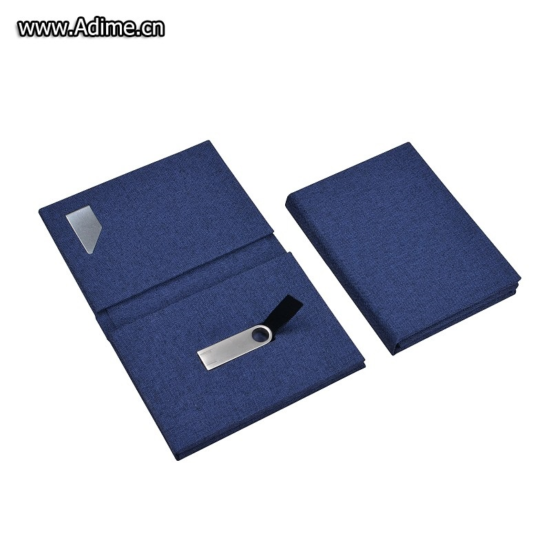 Name card holder with USB flash drive holder