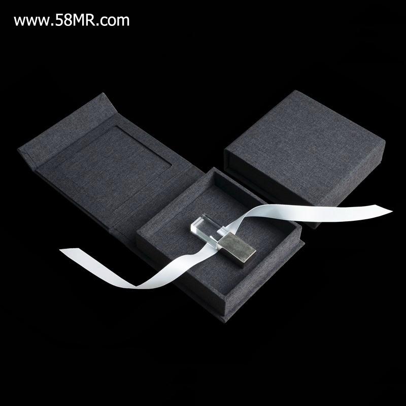 Linen Wedding USB Pen Drive Packaging Gift Box