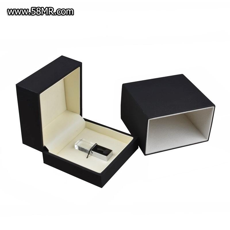 black soft touch USB pen drive box