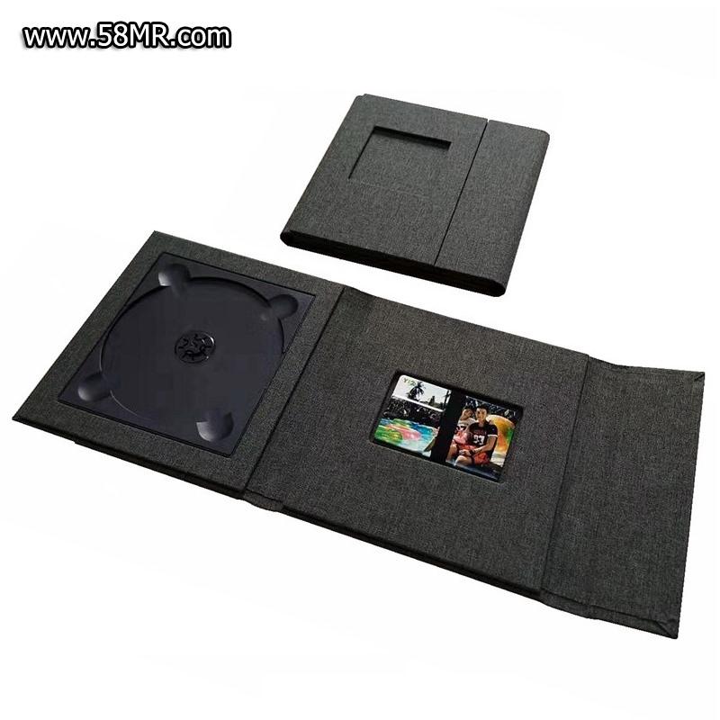 Fabric Linen Credit Card USB DVD Case