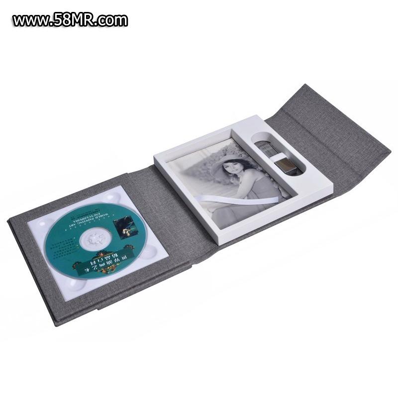 leather CD USB Photo box