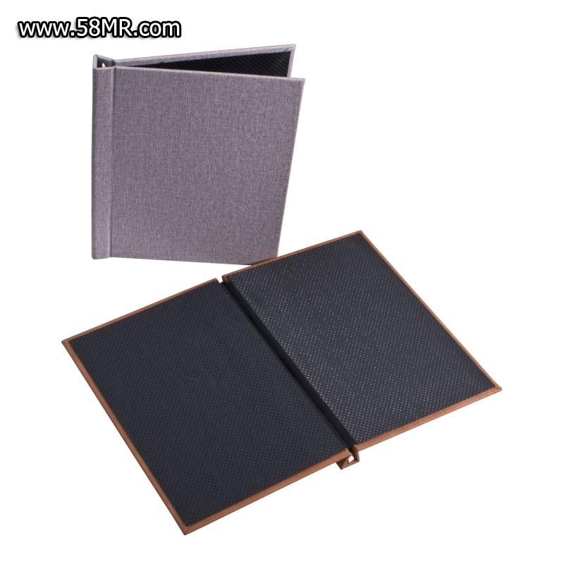 Linen Portrait Clamp Photo Album Book