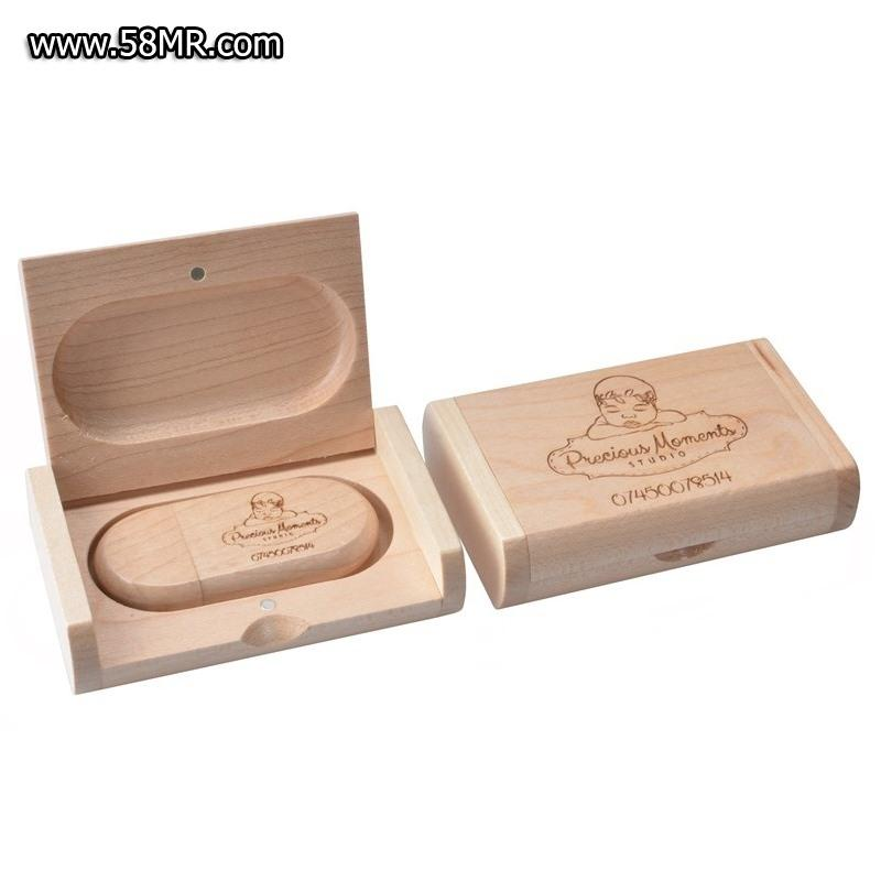 Wood USB Stick with Box